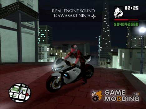 Real Engine Sound 'Kawasaki Ninja 250 для GTA San Andreas