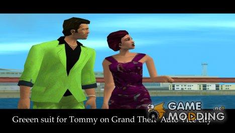 Зелёный костюм для Томми for GTA Vice City