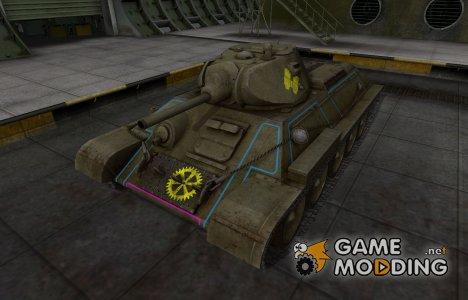 Контурные зоны пробития T-34 для World of Tanks