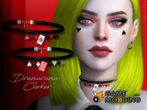 Dramarama Choker для Sims 4