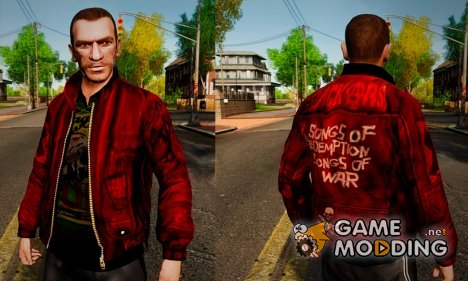 Red Leather Jacket для GTA 4