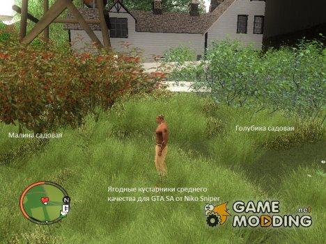 Ягодные кустарники для GTA San Andreas