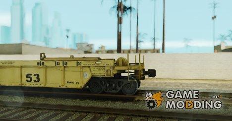 Вагон-платформа (желтый окрас) for GTA San Andreas