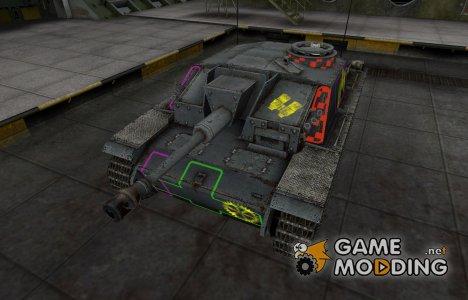 Контурные зоны пробития StuG III for World of Tanks