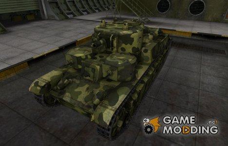 Скин для Т-28 с камуфляжем для World of Tanks