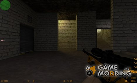 Gold awp with motif (tattoo) for Counter-Strike 1.6