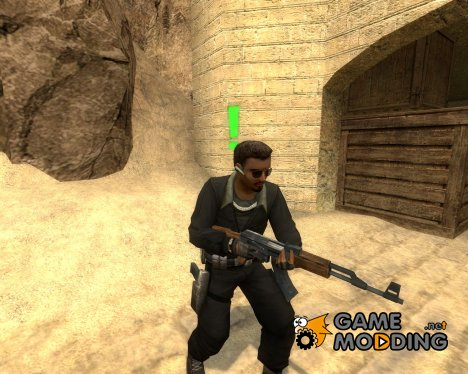 Black L33T w. Punisher Logo для Counter-Strike Source