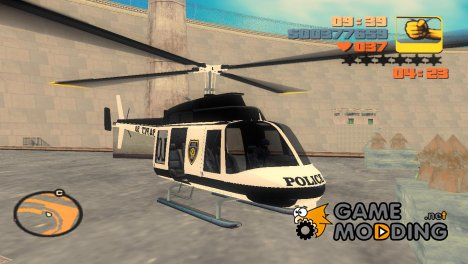 Вертолет из GTA 4 v2 for GTA 3