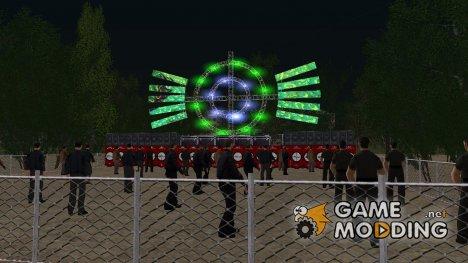 Рэп Сцена и Фанаты (на заказ) для Криминальной России for GTA San Andreas
