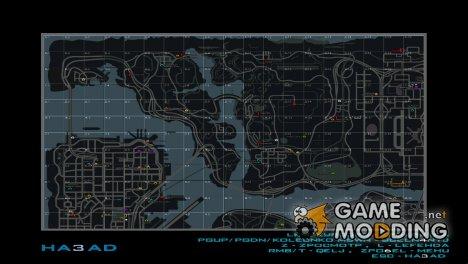 Карта в стиле GTA IV для SAMP RP с квадратами for GTA San Andreas