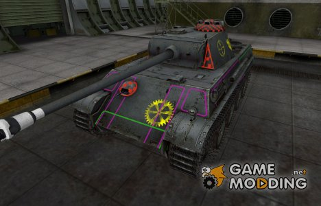 Контурные зоны пробития PzKpfw V Panther для World of Tanks
