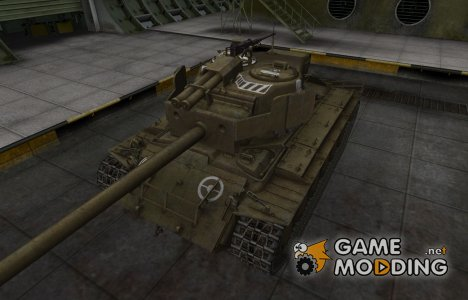 Зоны пробития контурные для T26E4 SuperPershing для World of Tanks
