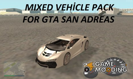 Mixed Vehicle Pack для GTA San Andreas