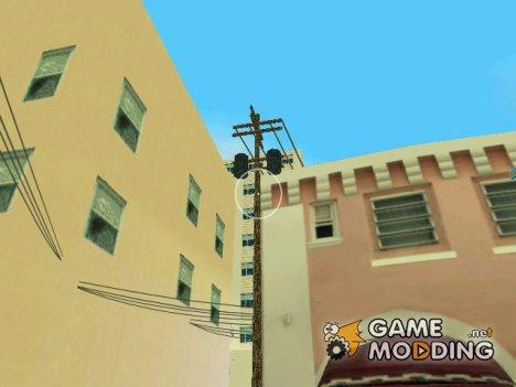 Новые текстуры телеграфных столбов для GTA Vice City