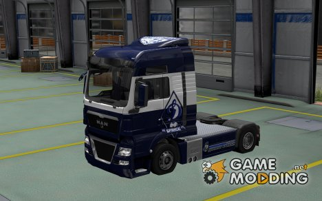 Скин Динамо для MAN TGX for Euro Truck Simulator 2