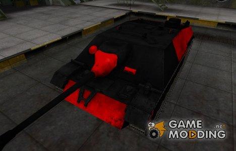 Черно-красные зоны пробития JagdPz IV for World of Tanks