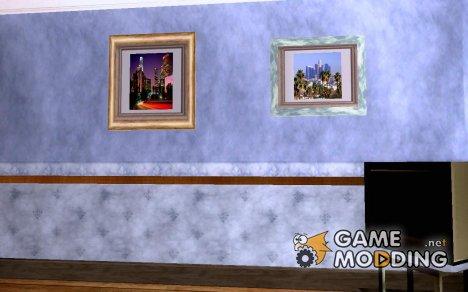 Новые картины в доме Карла для GTA San Andreas