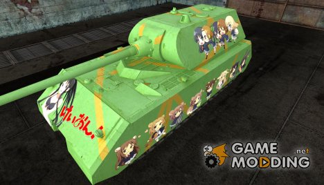 Anime шкурка для Maus for World of Tanks