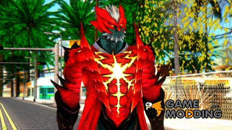 Devil May Cry 4 - Dante Demon для GTA San Andreas