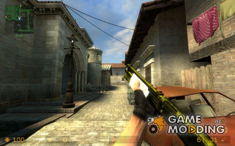 Realistic M4a1 w/ w_model для Counter-Strike Source