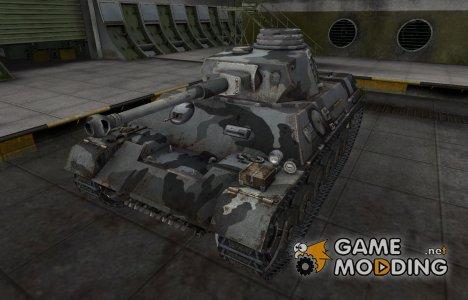 Шкурка для немецкого танка PzKpfw III/IV для World of Tanks