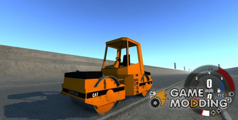 Асфальтовый каток Caterpillar для BeamNG.Drive