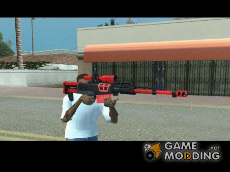 Sniper Rifle black and red for GTA San Andreas