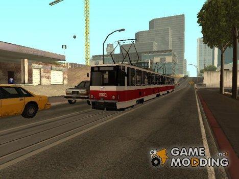 Русский трамвай Татра Т6В5 for GTA San Andreas