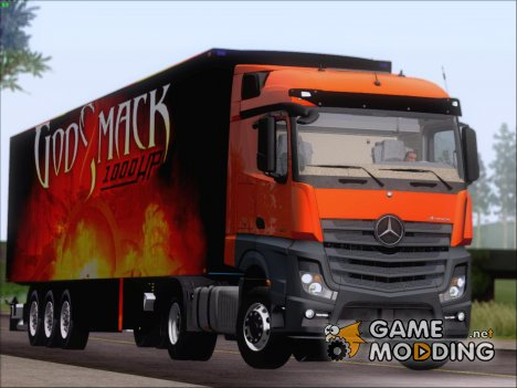 Mercedes-Benz Actros MP4 Stream Space Black  4x2 V2.0 для GTA San Andreas