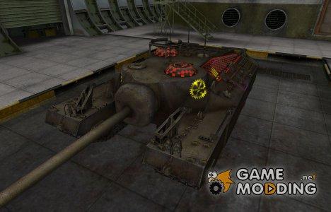 Контурные зоны пробития T95 для World of Tanks