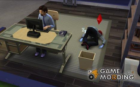 Cимы не будут самостоятельно дремать for Sims 4
