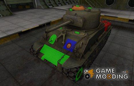 Качественный скин для M4A2E4 Sherman для World of Tanks