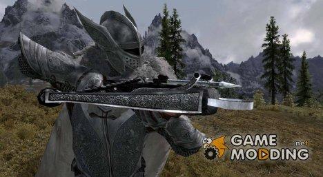 Рыцарский серебряный арбалет в HD для TES V Skyrim