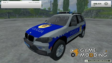 BMW X5 Serbian Police for Farming Simulator 2013