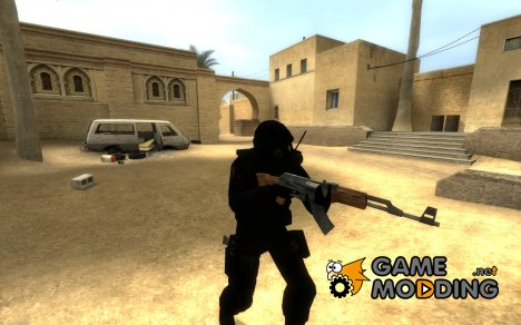 HD BLACK SAS для Counter-Strike Source