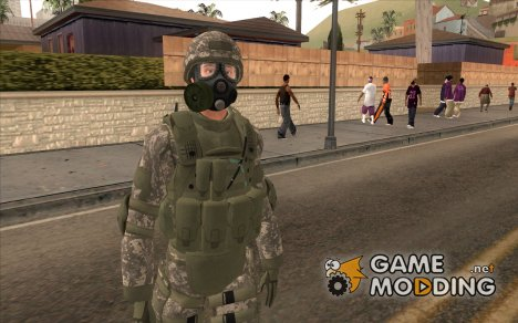 US Army Urban Soldier Gas Mask from Alpha Protoc для GTA San Andreas
