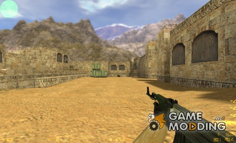 AK47 dark green для Counter-Strike 1.6