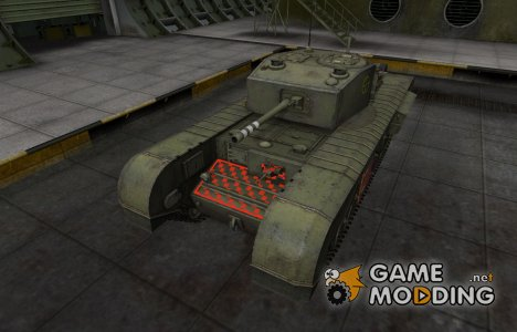 Контурные зоны пробития Черчилль III для World of Tanks
