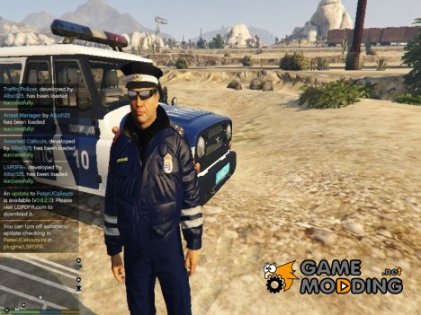 Russian Traffic Officer Dark Blue Jacket для GTA 5