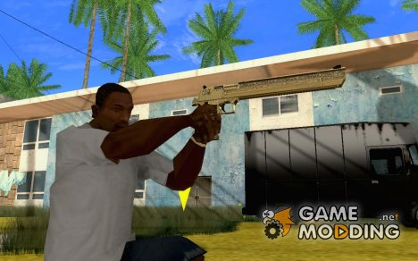 Gold Chrome Deagle для GTA San Andreas