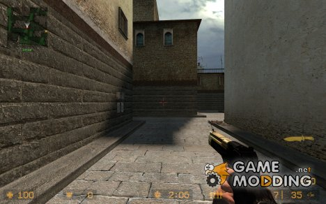 deagle retexture,black&gold for Counter-Strike Source