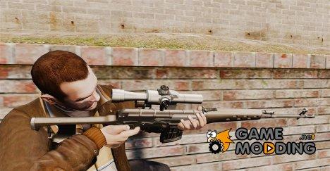 Снайперская винтовка Драгунова v2 for GTA 4