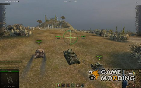 Снайперский и Аркадный прицелы для World of Tanks