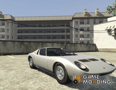 Lamborghini Miura P400 - 67 v1.2 для GTA 5