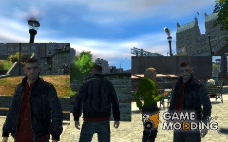 Черная кожаная куртка v.1 для GTA 4