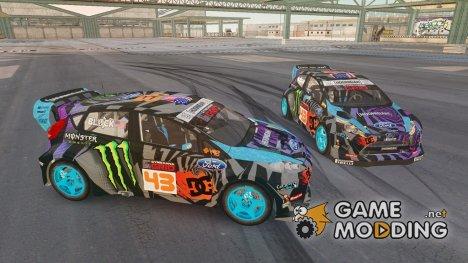 Ford Fiesta Gymkhana - Ken Block [Hoonigan] 2013 для GTA 4