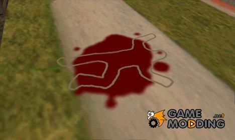 Трупы обводят мелом как в GTA VC для GTA San Andreas
