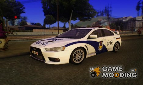 Mitsubishi Lancer Evo X Chinese Police for GTA San Andreas