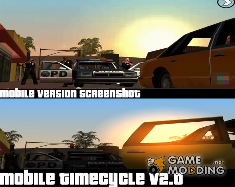Mobile Timecycle v2.0 для GTA San Andreas