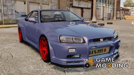 Nissan Skyline R34 GT-R для GTA 4